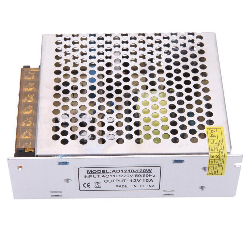 AC 110/220V to DC <font><b>12V</b></font> 10A <font><b>120W</b></font> Voltage <font><b>Transformer</b></font> Switch Power Supply NEW image