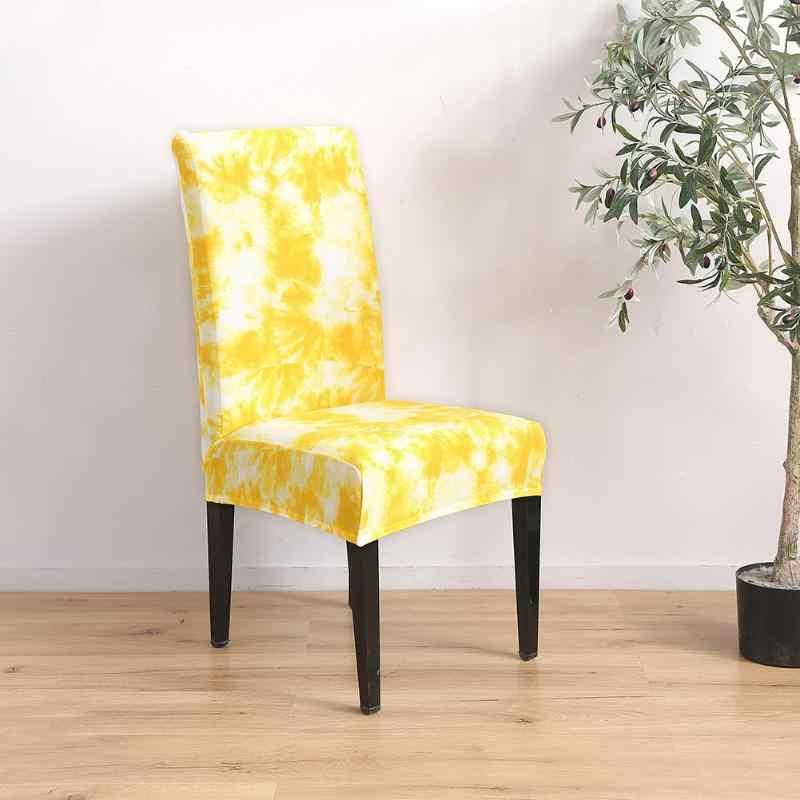 Защитный чехол Tie-dye Craft граффити шаблон чехол для ресторана отеля офис съемный упругое сиденье Slipcover желтый
