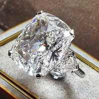 Anillo de oro de 14 quilates con diamantes de boda para mujer, joyas de topacio blanco, gema, Bizuteria, anillo joya de oro de 14K, caja de Bizuteria