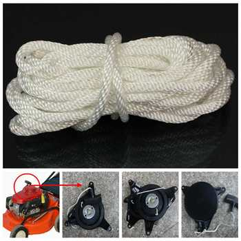 1 X 4mm*5m Nylon White Pull Starter Recoil Start Cord Rope For Most Lawnmower