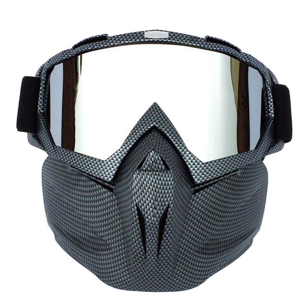 Das Mulheres dos homens Snowboard Ski Snowmobile Goggles Motocross Óculos de Esqui da Neve do Inverno À Prova de Vento Óculos De Sol com Máscara Facial