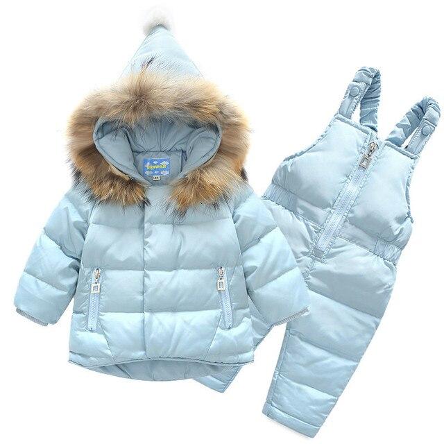 a7fbc81c0 Toddler Boys Outfits Infant Baby Snowsuit Girls Suit 2pcs Thick ...