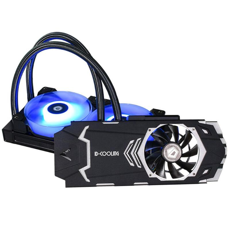 Id охлаждение ICEKIMO 240VGA RGB Видеокарта кулер с двойным шариковым подшипником вентилятор RGB и боковая подсветка Barfor GeForce/AMD