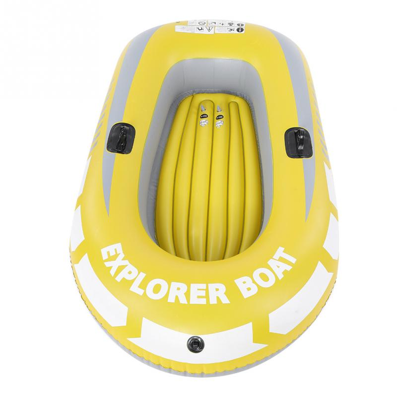 1 / 2 Person Fishing Boat Inflatable Kayak Canoe Rowing Air Boat Double Valve Drifting Diving Boat Fishing Accessory