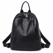 PU Leather Backpack Women Shoulder Bag Fashion Waterproof Travel Simple Student Bags Female