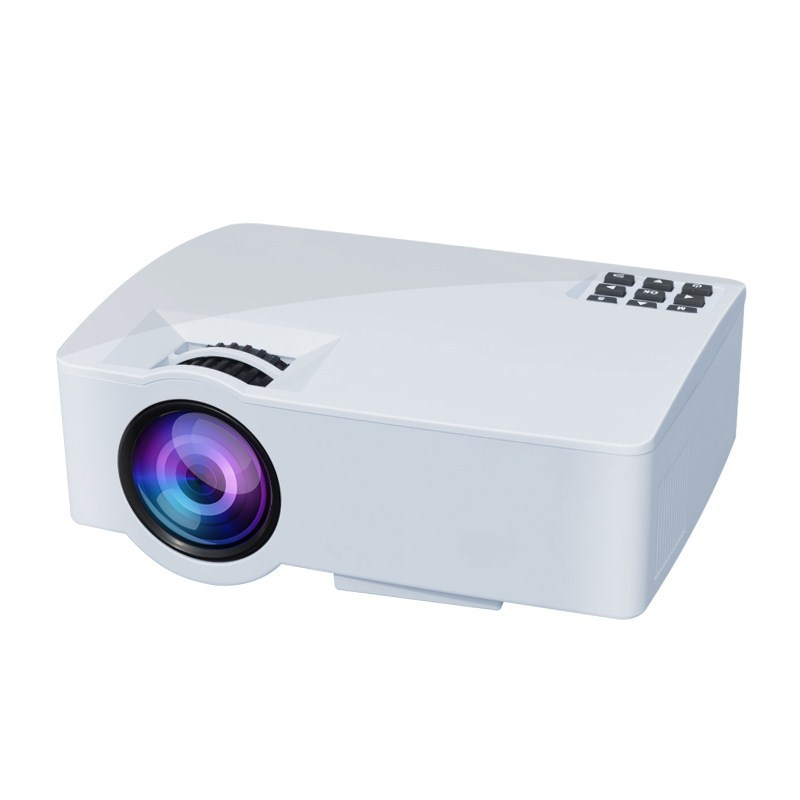 A8 Mini Draagbare Lcd 2.4/5.0 Ghz Wifi Smart Android Video Projector Voor Home Theater Ondersteuning Full Hd 1080 P (eu Plug) Op Reis