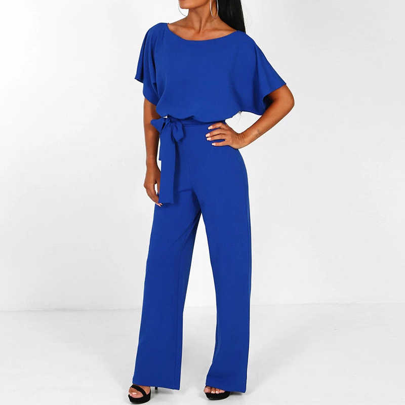 f21d64d18b5 ... Jumpsuits For Woman 2019 Fashion Women Rompers Party Clubwear Lace-up Playsuits  Women Wide Leg ...