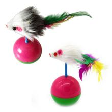 2019 New Arrival Durable Pet Cat Toys Mimi Favorite fur Mouse Tumbler Kitten Plastic Play Balls for Catch Cats Supplies