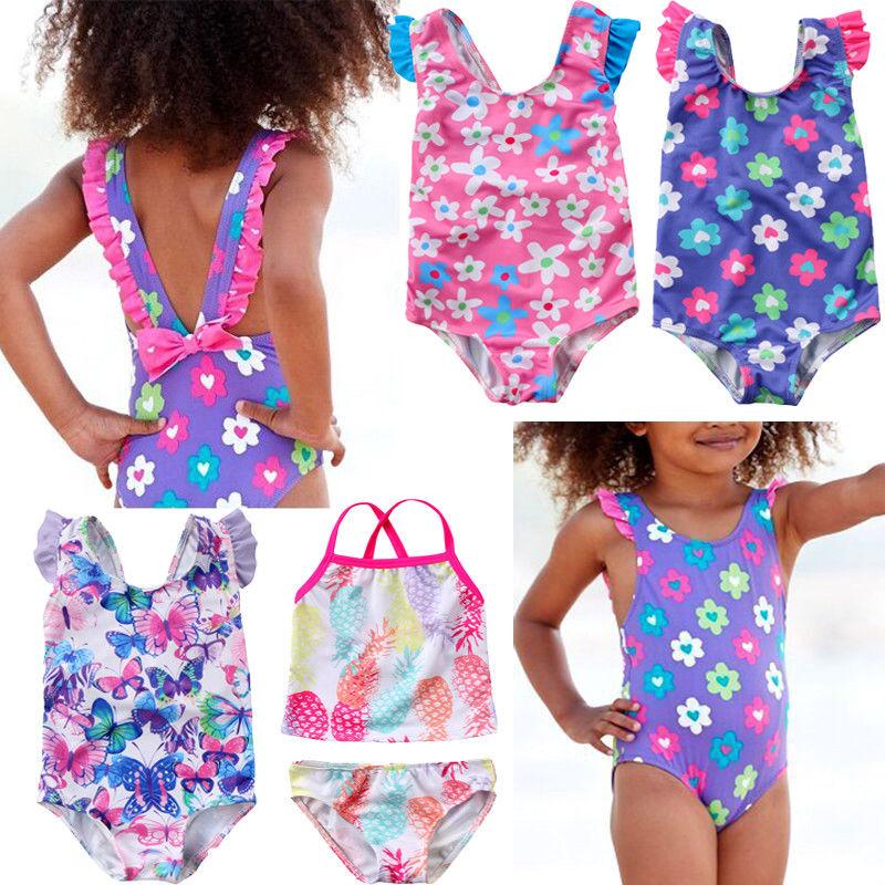 Cute Newborn Baby Girls Swimsuit Princess Flower Butterfly Toddler Kids Swimwear Swimmable Summer Infant Swimming Costume