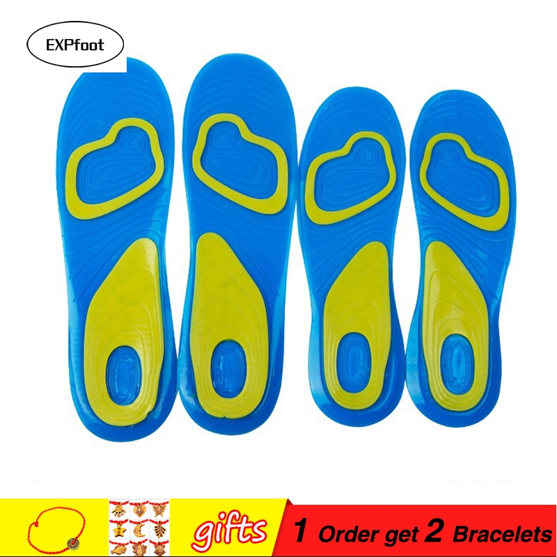 Silicon Gel Insoles Foot Care for Plantar Fasciitis Heel Spur Running Sport Insoles Shock Absorption Pads arch orthopedic insole 1 pair lot memory foam shock absorption insole foot massage insole for man and women casual shoes plantar fasciitis heel insole