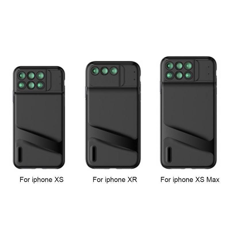 Cellulare Corredo Dell'obiettivo di Macchina Fotografica per il iphone X Fisheye Wide-angle Teleobiettivo Macro Obiettivo Zoom con Custodia protettiva Per iPhoneXS /XSMAX/XR
