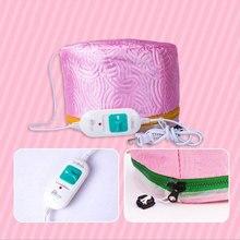 Электрическая шапка для волос, шляпа, салон, парогенератор для спа волос, термальное лечебное питательное маска для волос, согревающая шапка для масок, фены, термошапка, безопасность