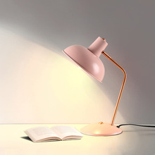 Modern Pink Led Desk Table Lamps Simple Office Bedroom Lamp Bedside Light  Luminaire