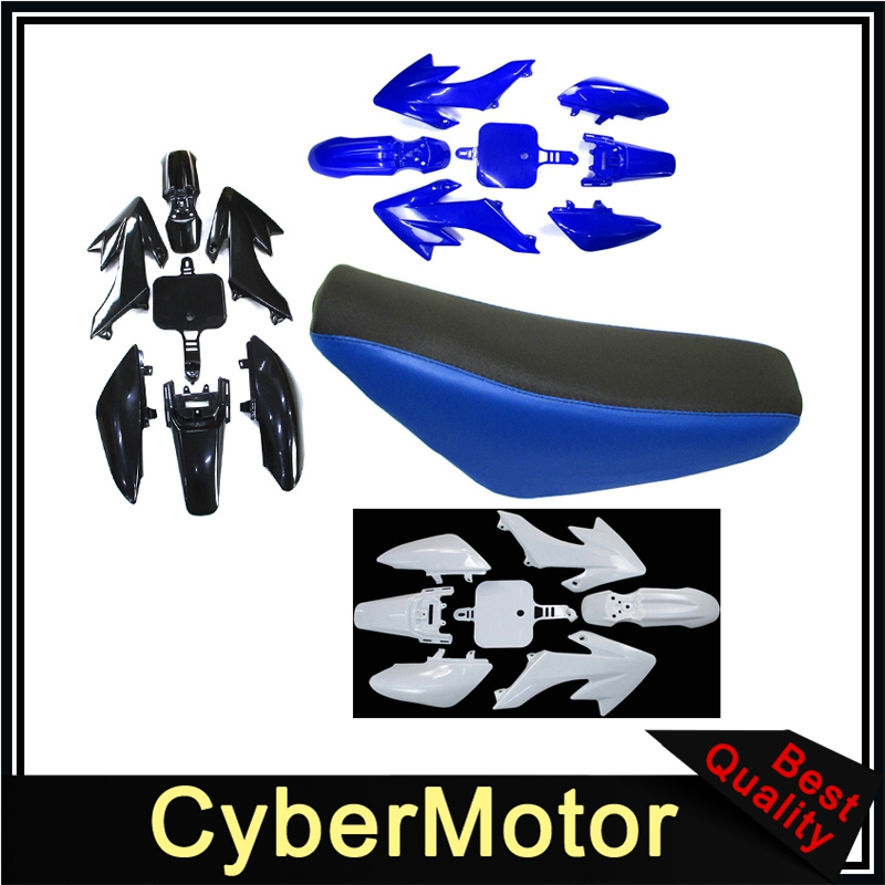 Plastic Fairing Body Kits Tall Foam Seat For Honda CRF50 XR50 Pit Dirt Motor Trail Bike