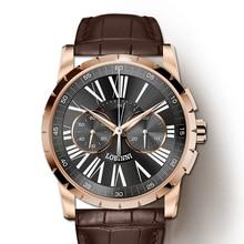 Switzerland LOBINNI Men Watches Luxury Brand Venus Chronograph Manual Mechanical Mens Clock Sapphire relogio masculino L16011-4