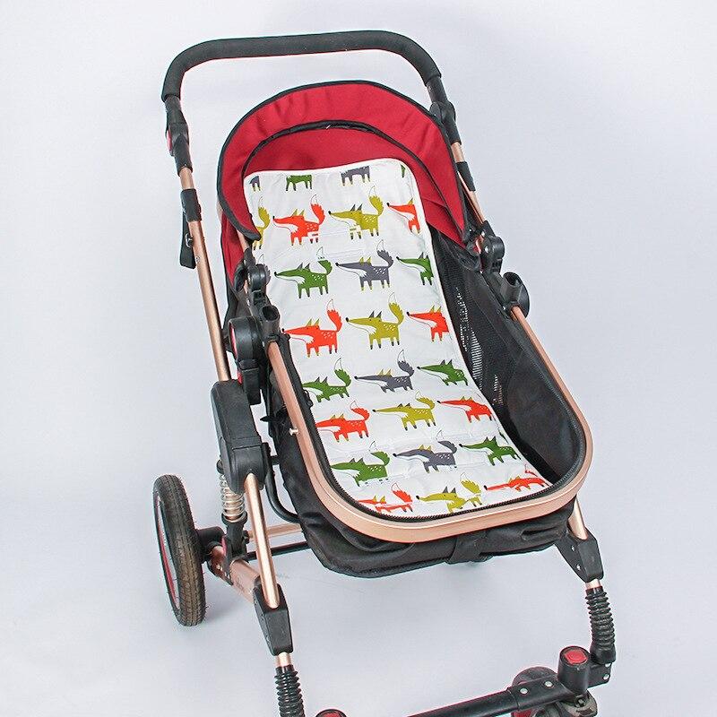 Mother & Kids Honest Baby Stroller Cushion Thicken Cartoon Printed Carriage Pram Cart Seat Pad Cover Mat Mattress Pram Stroller Accessories