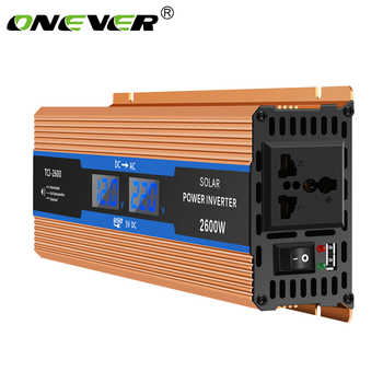 Onever Car inverter 2600 W DC 12 V to AC 220 V Power Inverter Charger Converter Sturdy and Durable Vehicle Power Supply Switch - DISCOUNT ITEM  38 OFF Automobiles & Motorcycles