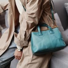 Natural Cowhide Leather Handbags Fashion Women Satchel Genuine Leather Vintage Shoulder Messenger Bags Female Small Tote New цена в Москве и Питере