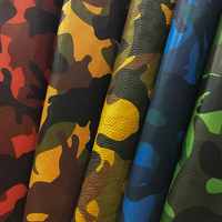 camouflage paint leather vegetable tanned leather first layer cowhide genuine leather 1.8 2.0mm 6 size 7 color available