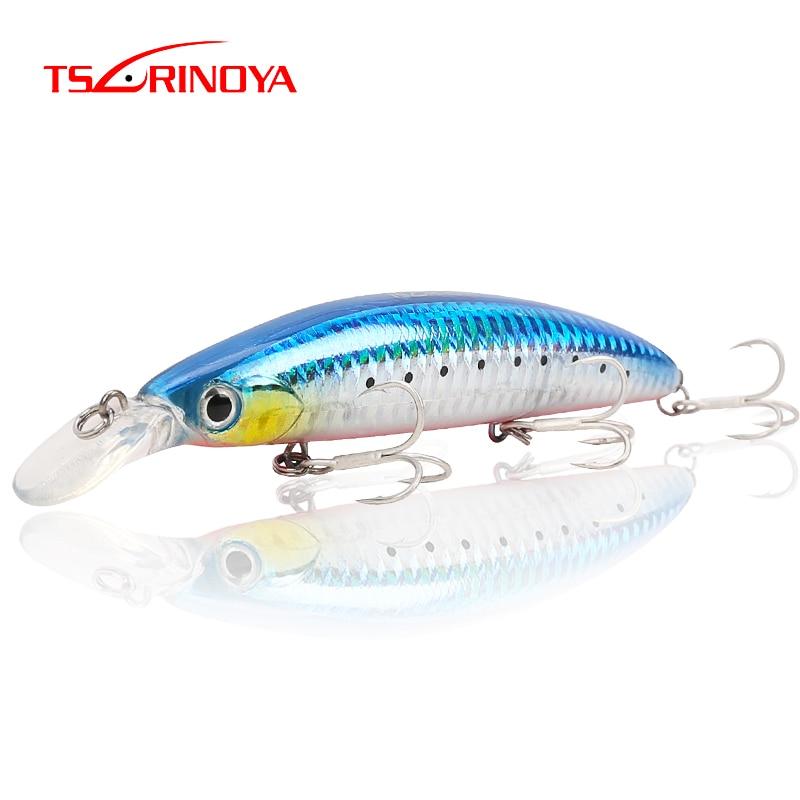 TSURINOYA Fishing Lure DW48 110mm 20.5g Deep 1.5m Long Casting Floating Minnow Bass Lure Artificial Bait 5 Colors
