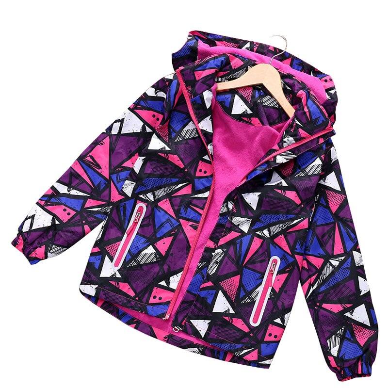 2019 весенне осенне зимние детские пальто для девочек детские куртки двухслойные водонепроницаемые куртки полярная флисовая Спортивная повседневная куртка для девочек