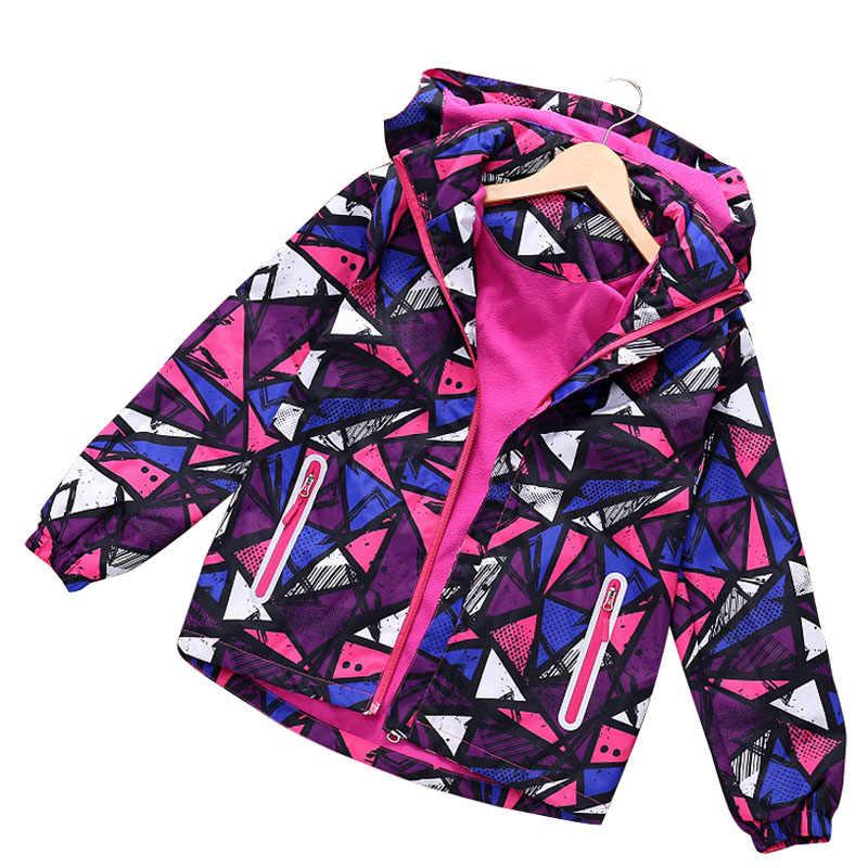 Коллекция 2019 года, весенне-осенне-зимние пальто для мальчиков и девочек детские куртки двухслойные водонепроницаемые куртки спортивная детская куртка из флиса