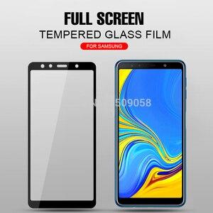 Image 2 - 1 2 قطعة/الحزمة A7 2018 الزجاج لسامسونج غالاكسي A7 2018 A750 SM A750F الزجاج المقسى على Samsun جلاكسي A 7 2018 A72018 غطاء Sklo