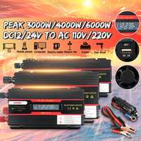 Autoleader 6000W Power Inverter LCD Display DC 12/ 24V to AC 110V/220V Modified Sine Wave Converter for car and truck