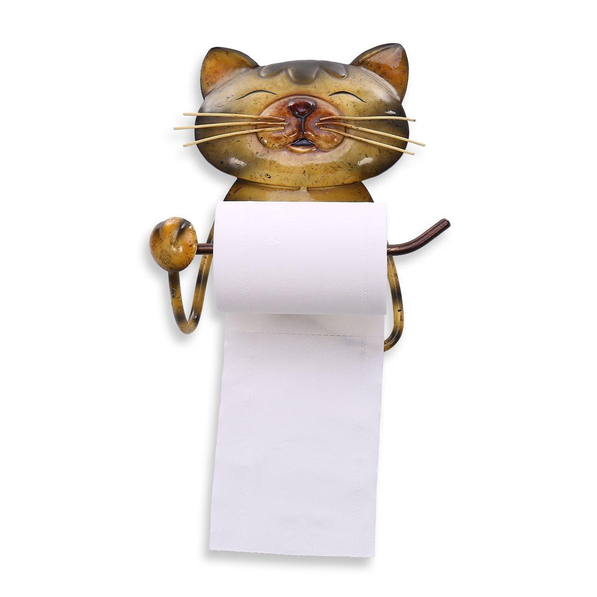 Katze Papier Handtuch Halter Vintage Gusseisen Hund Wc Papier Halter Stehen Handtuch Halter Stehen Für Bad