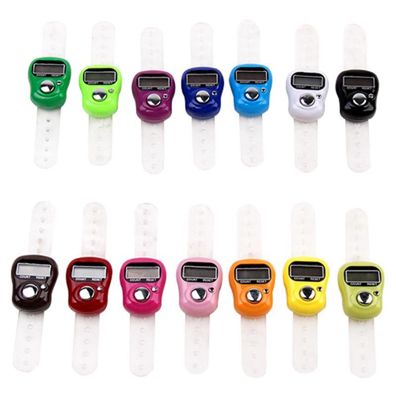 Цифровой ЖК-дисплей с цифрами, электронное ручное кольцо для гольфа, вязанные строчные счетчики, счетчики, шагомер, случайный цвет, Прямая п...