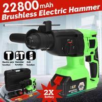 198VF 220V Brushless Electric Hammer Drill Brushless 122800mAh Cordless Lithium Ion Electric Hammer Drill With Bag Power Tools