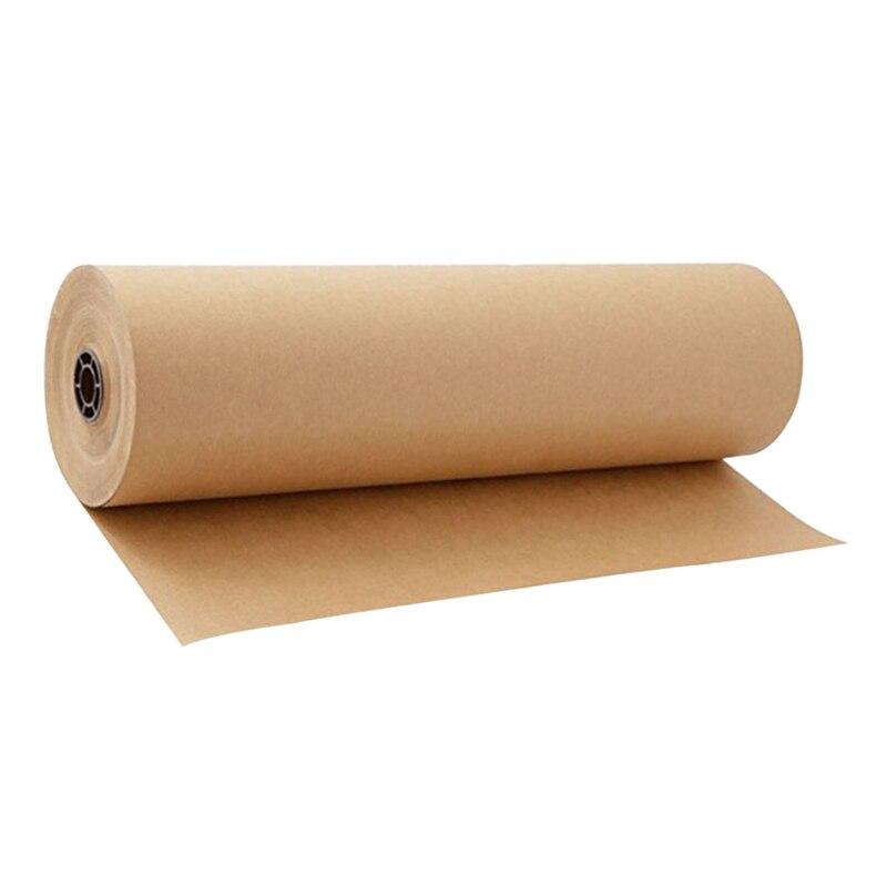Rouleau de papier d'emballage Kraft brun de 30 mètres pour la fête d'anniversaire de mariage emballage de cadeau emballage de colis artisanat d'art 30Cm