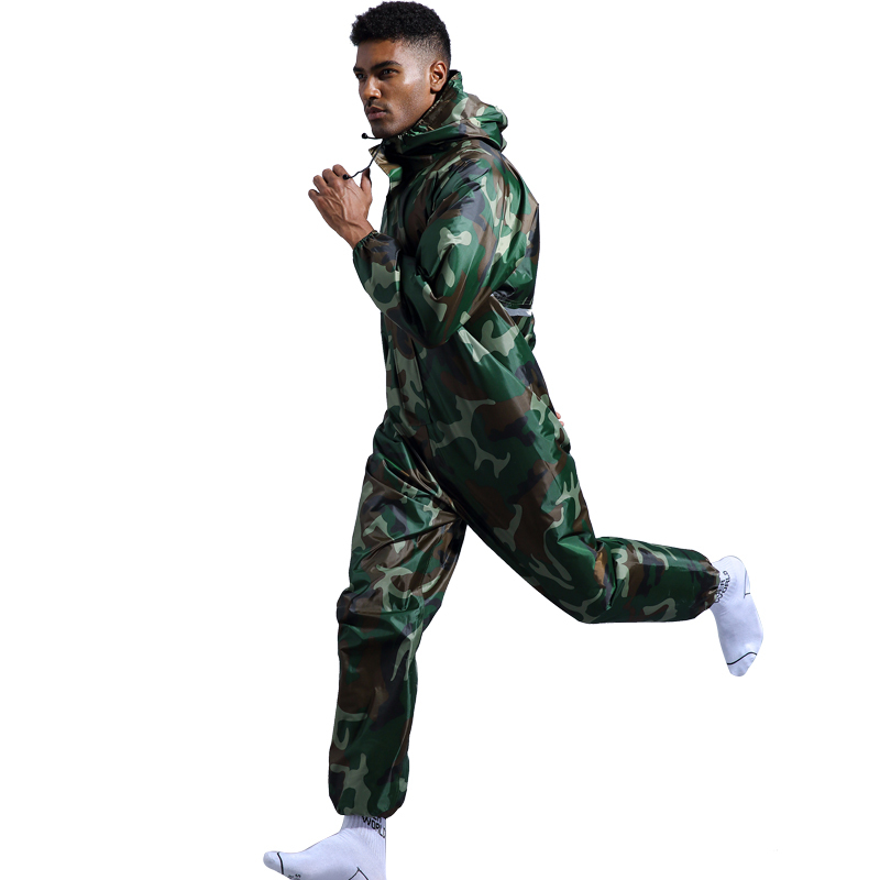 Men Camouflage Raincoat Suit Outdoor Activity Hiking Fishing Motorcycle Rainwear