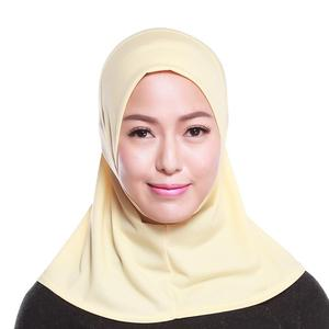 Image 3 - イスラム教徒の女性フルカバーキャップヒジャーブミニスカーフ帽子ターバン帽子ヘッドカバーイスラムスカーフの下無地スカーフアミラ忍者