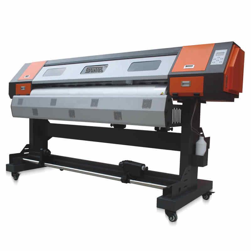 1.6 M Printer Pelarut Plotter Mesin Cetak DX5 Print Head Printer Max Lebar 1.6 M Gratis Pengiriman Laut