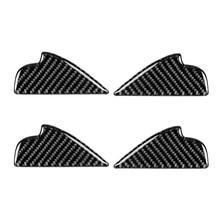 Tirador de puerta de coche de fibra de carbono, marco interior, cubierta de cuenco, para Mazda3, Mazda6, CX 3, CX 5, CX 8, CX 9, 2017, 4 unidades