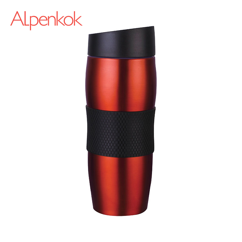 Vacuum Flasks & Thermoses Alpenkok AK-04009A thermomug thermos for tea Cup stainless steel water graceful stainless steel rhinestone ring jewelry for women