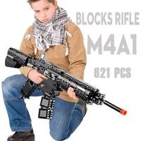 Building blocks M4A1 toy gun Rifle Model military bricks weapon set cs cosplay kids outdoor toy for children