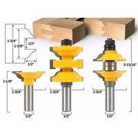 DANIU 3 stücke 1/2 Zoll Schaft Eingang Stange und Ogee Router Bit Innere Tür Assorted R/S Router Bit holzbearbeitung Werkzeuge-in Fräser aus Werkzeug bei