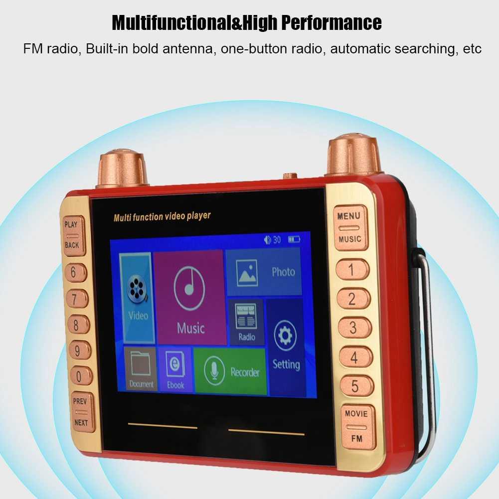 4.3 インチ HD 画面デジタル FM ラジオスタンドホルダーポケットラジオ多機能サポート TF カード U ディスクビデオプレーヤーミニラディ