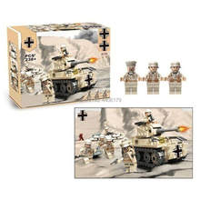 hot LegoINGlys military WW2 German army Mark tank North African War MOC Building Blocks model mini weapon figure brick toys gift(China)