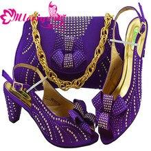 818216a13 Senhoras Sapatos Combinando com Sacos de Sapato e Bolsa de Conjunto para a  Nigéria MM1077 Do