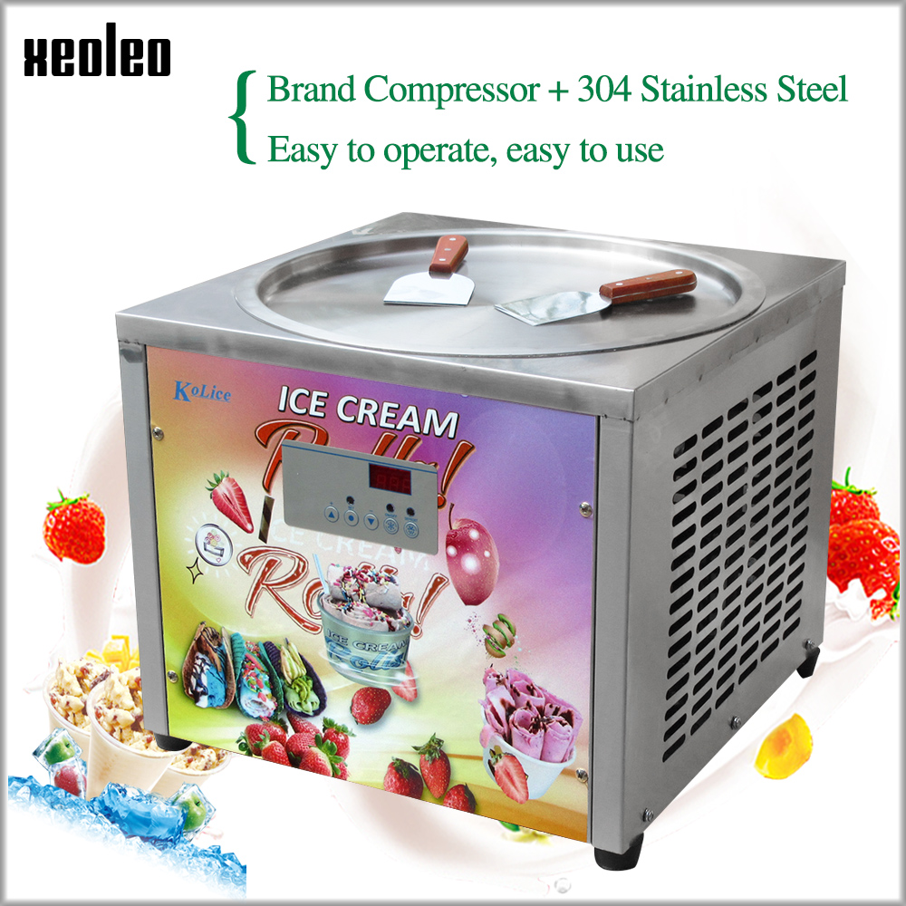 XEOLEO Ice Fry machine Roll Ice cream machine Roll Ice machine 45cm round Pot single gel pan fry ice cream roll maker 800WXEOLEO Ice Fry machine Roll Ice cream machine Roll Ice machine 45cm round Pot single gel pan fry ice cream roll maker 800W