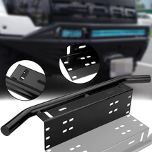 For Off Road Work Light Led Bar 1pc Black Car Bull Front Bumper License Plate Universal Working Mount Bracket Holder