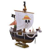 25 cm anime uma peça indo merry pirata navio pvc figura de ação boneca collectible modelo diy brinquedo presente natal