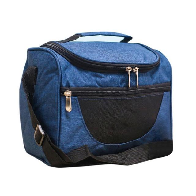Double Deck Portable Thermal Insulation Waterproof Lunch Thermal Bag Picnic Bag Outdoor Picnic Backpack Bag to Keep Food Chilled