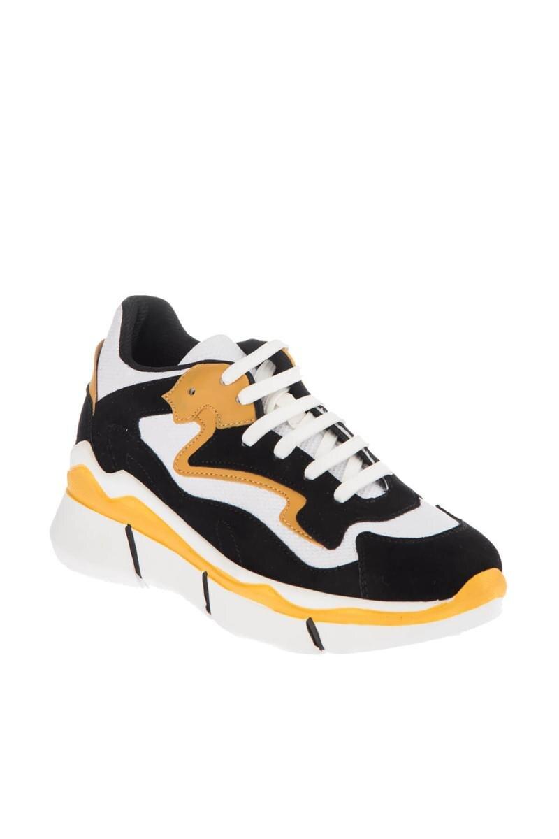 De Mujeres Las Soho Negro Cuñas 9833 Blanco Amarillo Zapatos qtxPtTng