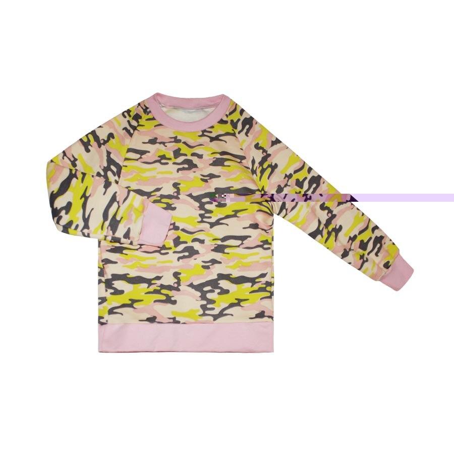 Sweatshirt Kotmarkot 20551 children clothing for girls christmas snowflake print long sleeve flocking sweatshirt