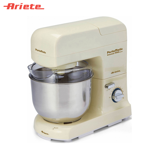 Кухонная машина Ariete 1596/01 Gourmet PRO, 10 скоростей, объем чаши 4 литра, блендер в комплекте, простота в уходе