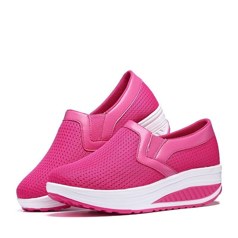 Zapatos Respirant Maille black Pink red Ubfen De Femmes Adultes Fond 2019 Plat Mode Marque blue Chaussures Augmenté Mujer Casual Baskets wzTg8q6